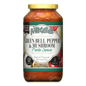 Passover Green Bell Pepper & Mushroom Sauce